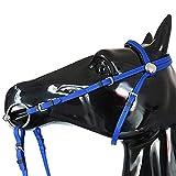 Xzbnwuviei - Renna d'acqua in PVC di alta qualità, per cavallo lungo sidepull briglia cava, decorazione cavalli, accessori imbottiti in pelle con perline senza morsi, briglia equestre
