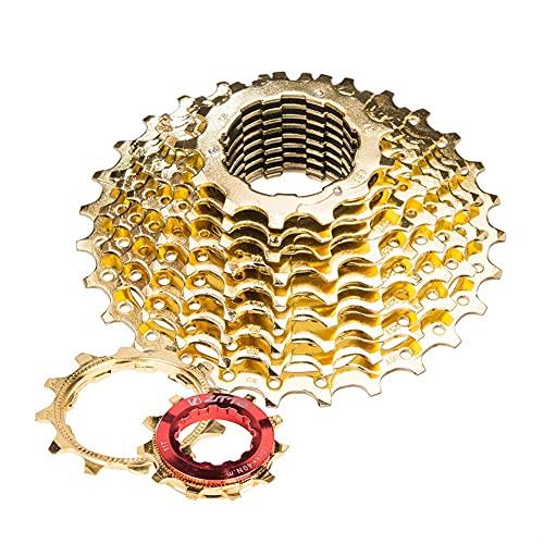 XIEJING Piñón Casette,Bicicleta Cassette Piñón Bicicleta de Carretera 11S 11-28T Gold Golden 22 Velocidad Cassette Sprocket 11-28T Ultegra R8000 Piezas de Bicicleta (Color : 11Speed 11 28T Gold)
