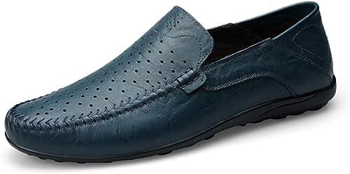 Easy Go Shopping hombres Oxford Casual Personalidad Talla Vintage Zapaños Brogue Clásicos (Color   negro, Tamaño   38 EU)