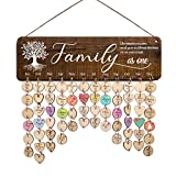 Zhuper Family Birthday Board Wall Hanging for Mom Grandma Family Tree Birthday Calendar Reminder Family As One...