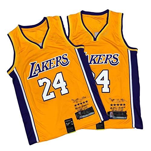 EDFG Kobe Signature # 24LA Lakers zog fünf Kronen Sammler Stickerei Basketball Jersey Ball Anzug Paar Weste-XL