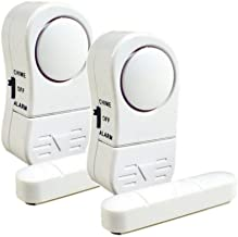 DNI, 6003, Alarme Magnético de Portas e Janelas Kit 2 Pcs, Multicor
