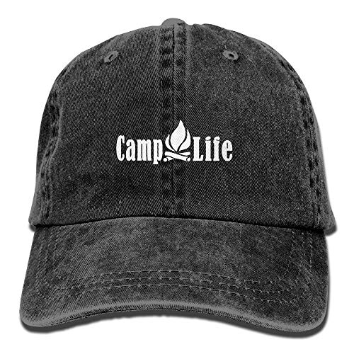 Hlcenng Camp Life Vintage Adjustable Jean Cap Trucker Cap Forman and Woman