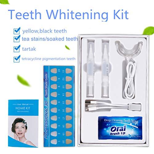 Nargut Teeth Whitening Kit,Bleaching Teeth Whitening Set with Tooth Bleaching Gel Against Yellow Teeth Smoke Stains Black Teeth