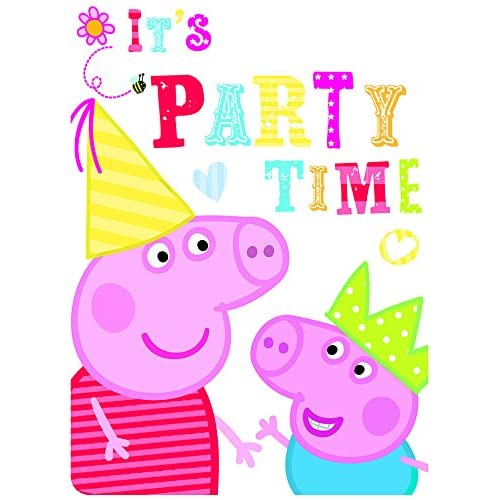 Amazon 6 Peppa Pig RED Birthday Party Invitations Invites Plus Envelopes Toys Games
