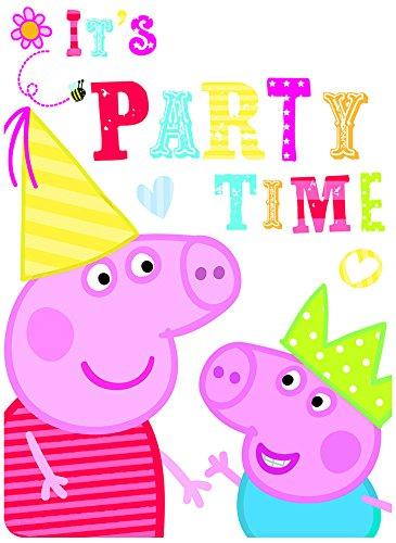 Unbekannt Peppa Pig Lot de 6 Cartes d'invitation avec enveloppe