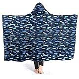 WH-CLA Throw Blanket Acuario De Peces Encapuchados Silhouettes 102X127Cm Mantas Decorativas Manta De Franela Personalizada Cálido Todas Las Estaciones Imprimir Suave Ligero Regalo Acoged