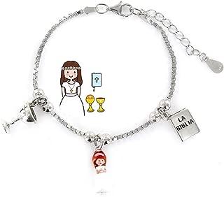 Chicas Nombre Personalizado Pulsera y collar conjunto-Primera Sagrada Comunión Regalo