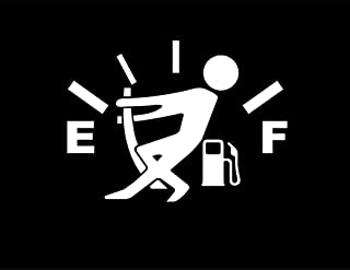 CMI DD970W Gas Gauge Empty Full Decal Sticker | 5.5-Inches By 4-Inches | Premium Quality White Vinyl