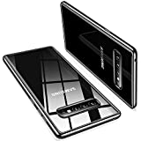 TORRAS Crystal Clear Kompatibel mit Galaxy S10 Hülle, Transparent Dünn Slim [Vergilbungsfrei] Hülle Weiche Silikon Bumper Case Scratchproof Kratzfest Durchsichtige Schutzhülle Handyhülle - Schwarz