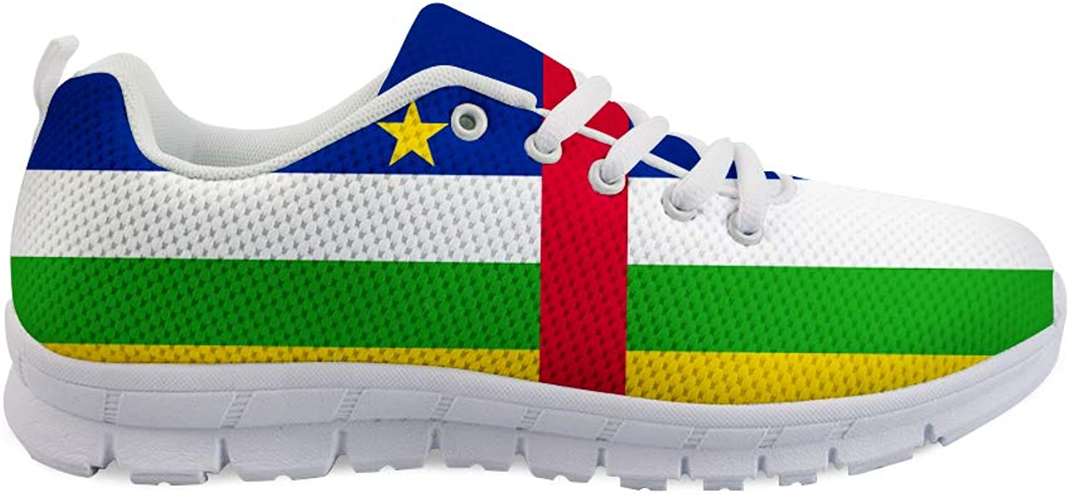 Owaheson Lace-up Sneaker Training shoes Mens Womens Central African Republic Flag