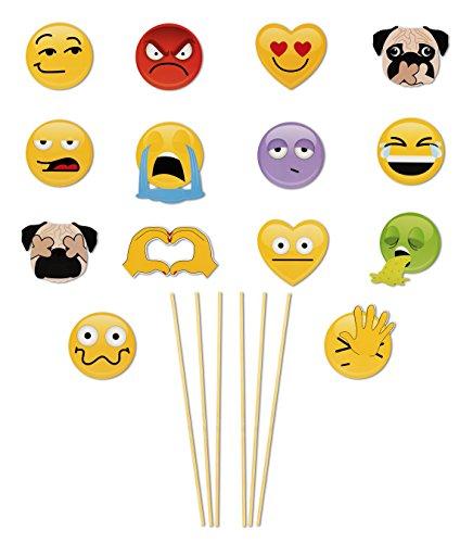 NPW Get Emojinal Selfies Photo Prop Kit, One Size
