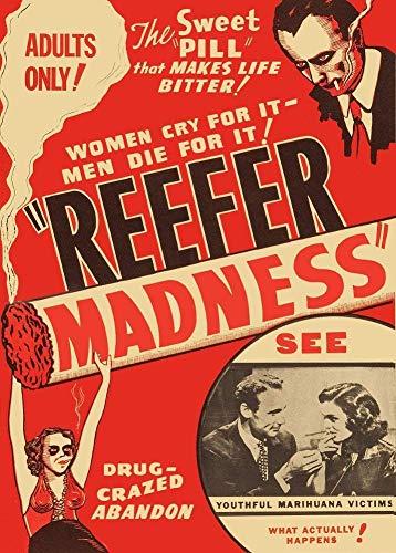 Póster de la marihuana, la píldora dulce que hace la vida amarga, Estados Unidos, 1936, tamaño 28 x 43 cm, impresión decorativa para regalo
