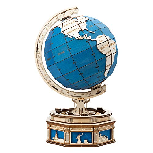 ROKR Globe Holzpuzzle Modellbausätze Puzzle 3D Bausatz Erwachsene