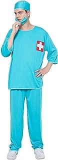 Men's Doctor Costume Hospital Medical Uniform Surgeon Costume Set Green