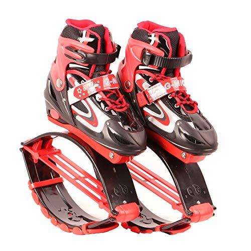 CHHBOXCHH Botas Infantiles De Salto para Fitness,Jumps Rebound Shoes,Jump Shoes Botas , 50 A 70 Kg De Peso,Gravedad Rebote Unisex ,Uso Interior Y Exterior,Red-35-38