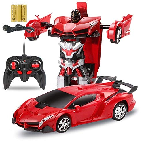 Lowest Prices! Woote Kids RC Transformer Charging Remote Control Car Child Toy Birthday Present Transformer Robot Electric One Button Demonstration Remote Control Car Child Autobot Hornet Toy Car Christmas Gift
