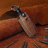 BUQDA Cubierta de la Caja de la Llave del Coche Bolsa de la Llave, para Audi a1 a3 8v a4 b9 a5 a6 c8 q3 q5 q7 TT Llavero Accesorios Car-Styling Auto Holder Shell
