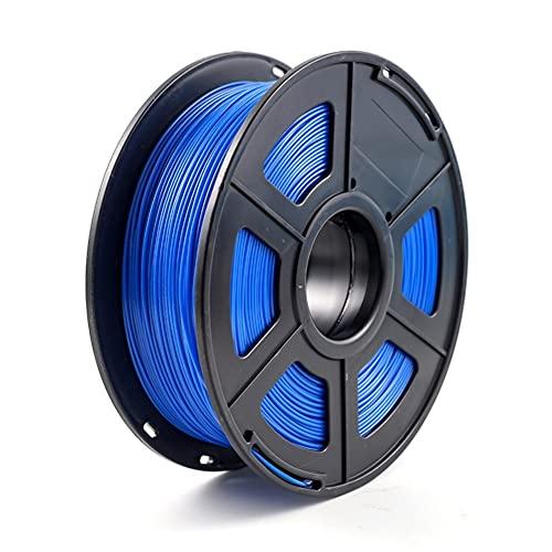 YBINGA 3D Printer Filament PETG 1.75mm 1kg/2.2lbs Plastic Filament Consumables PETG Material Replacement Parts (Color : Blue)