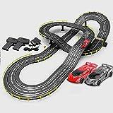 GAOO Track Racing 5M Electric Rail Car Slot Car Racing Set Vehículo Playsets Ensamblaje De Pista De Empalme Juguete Regalo De Cumpleaños De Navidad(Color:Eléctrico,Size:2 Cars)
