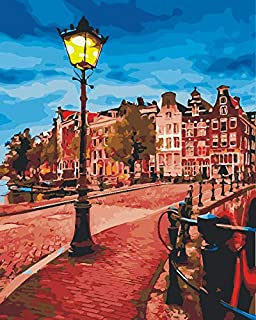 DIY Painting by Numbers for Adults, Paint by Number Kit On Canvas for Beginners, New Painters, Gift Package from SEASON (Streetlight)