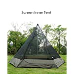 TentHome Waterproof Double Layers Teepee Tent Outdoor Camping 3.1M/10ft Family Tent Pyramids Indian Tent With fixed… 3