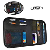 lebogner Car Sun Visor Organizer, 2 Pack Auto Interior Accessories Pocket Organizer, Registration and Document Holder, Personal Belonging Storage Pouch Organizer