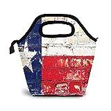 Bolsa Térmica Comida Bolsas De Almuerzo para Mujeres Hombres Niñas Niños Bolsa Isotérmica De Almuerzo Bandera gris del estado de Houston Texas