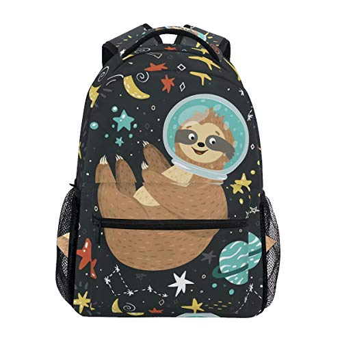 Sloth Backpack Kids School Bag Backpack Cute Animal Bookbags Canvas Rucksack Laptop Book Bag Anti Theft Casual for Girls Boys Teenagers