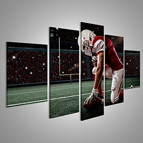 islandburner Bild Bilder auf Leinwand American Football Spieler im Stadion Poster, Leinwandbild, Wandbilder