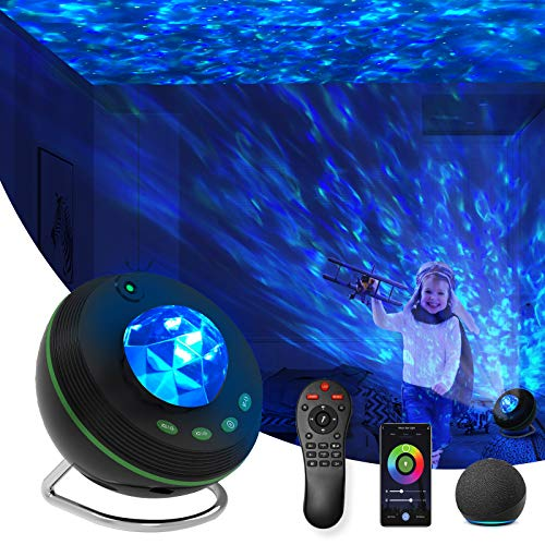 Star Projector, Night Light Projector 4 in 1 Galaxy Projector 85° Rotating,with Bluetooth Music Speaker Phone App Remote Control for Baby Kids Bedroom/Game Rooms/Home Theatre/Birthday/Party