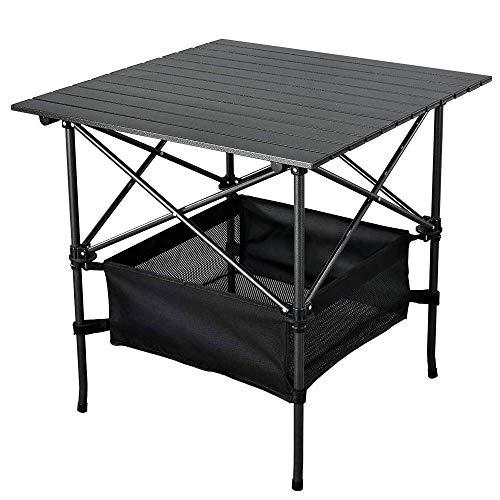 Mesa plegable al aire libre de izadas portátiles Mesa de picnic camping Mesa, aluminio enrollable Tabla Con Easy bolsa de transporte for interior, exterior, camping, playa, patio trasero, barbacoa, Fi