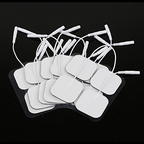 Frontoppy Universally-Compatible 20 Tens Electrodes Pads Reusable Self Adhesive Digital Therapy Machine Massager