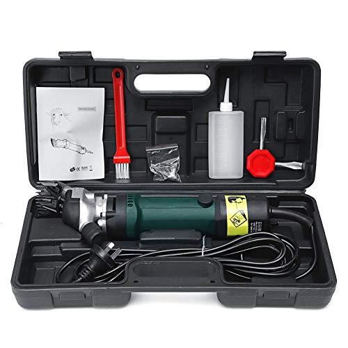 QZMX Clipper 690W Professionelle Schermaschine Elektrische Schafschere für Schafe Tierhaarschneider Werkzeug für Rasiermaschine Wolle Schere 220 V, 6 Geschwindigkeit 13 Gerade Zähne Klinge