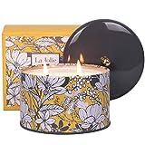 LA JOLIE MUSE Orange & Bergamot Scented Candle, 100% Natural Candle for Home, 50 Hours Long Burning, Tin, 14.1Oz