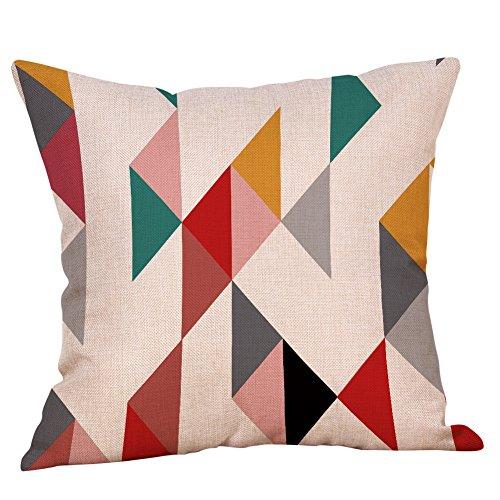 Doingshop Taie d'oreiller décorative colorée Motif Vague