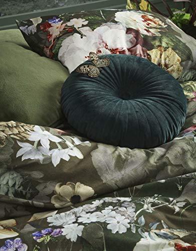 ESSENZA Dekokissen Quadratisch Fleur Blumen Pfingstrosen Tulpen Polyester Moss, 50x50 cm