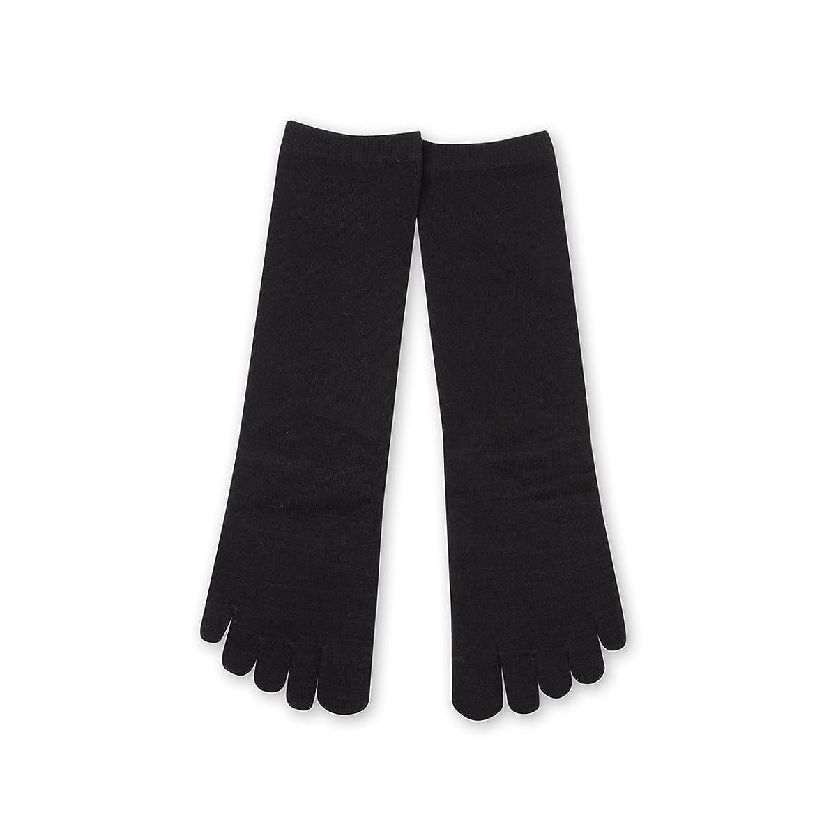 ペスト送ったたくさんDeol(デオル) 5本指 ソックス 女性用 靴下 23~25cm 黒
