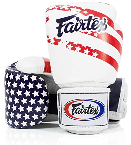 Fairtex Muay Thai Style Training Sparring Gloves (16 oz, USA)