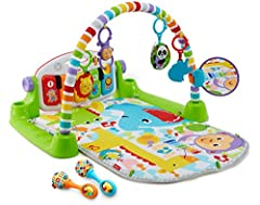 Includes Deluxe Kick & Play Piano Gym and Rattle 'n Rock Maracas 4 ways to play as baby grows: Lay & Play, Tummy Time, Sit & Play, and Take-Along Learning content changes with baby's age & stage with Smart Stages technology Detachable keyboard with 5...