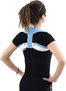 Kyphosis Posture Corrector, Back Correction Belt Adjustable Correction The Hunchback for Male Female Helps Relieve Neck & Shoulder Pain Improve Body Posture(one Size Fits All) Blue (Color : Blue)