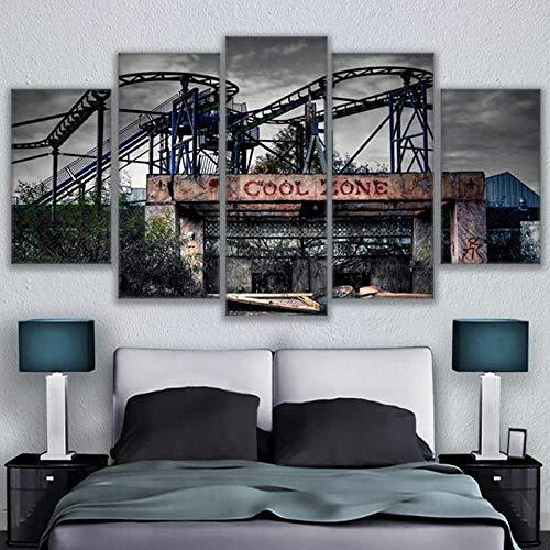 rkmaster-Modern Home Decoration wandkunst Rahmen modulares Poster HD Druck malerei 5 alte cool vergnügungspark leinwand Bilder