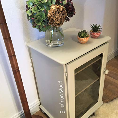 Upcycled Stereo Cabinet-Multi Purpose Grey Unit-Tinted Glass Door-Hand Painted Drinks Cabinet-Chalk Painted Drinks Unit