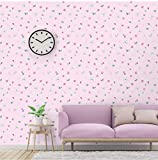 PoetryHome Self-Adhesive Pink Floral Butterfly Contact Paper Shelf Liner for Kitchen Bathroom Cabinets Dresser Drawer Desk Crafts Wall 17.7x117 Inches