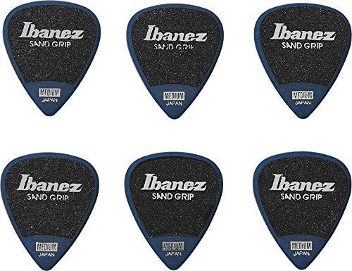 IBANEZ Flat Pick Sand Grip - blau 6 Stück (PPA14MSG-DB)