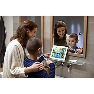 Philips Sonicare For Kids Elektrische Zahnbürste HX6322/04, mit Schalltechnologie, für Kinder, sanfte Reinigung, türkis
