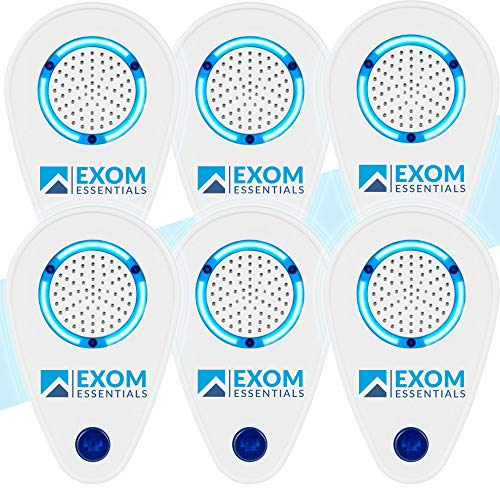 ES-1, (6Pack) Ultrasonic Pest Repeller Wall Plug-in Most Effective than Repellents - Get Rid Of - Rodents, Squirrels, Mice, Rats, Bats, Roaches, Ants, Spiders, Bed Bugs, Мosquito, insects, Fleas, Fly!