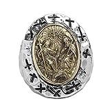 Beydodo Silber 925 Ring für Herren Christus Jesus Kreuz Freundschaftsringe Ringe Männer Silber Große 60 (19.1)