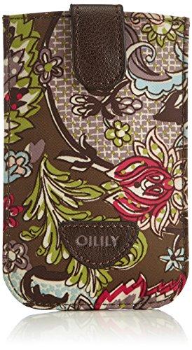 Oilily Damen Smartphone Pull Hülle Taschenorganizer, Braun (Moss 709), 9x14x1 cm