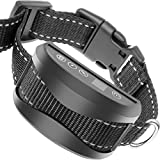 TIFTAF Bark Collar - Harmless and Humane - Anti Barking Control Device Train Your Pet. Safe for Large Medium and Small Dog Rechargeable Rainproof Lightweight - Black